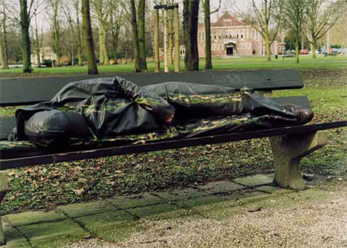 urban bench sleeper camouflage Creativity and Handicaps