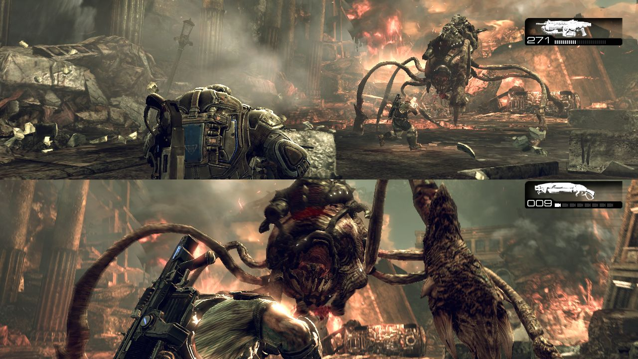 gears of war split screen Split Screens and Widescreens