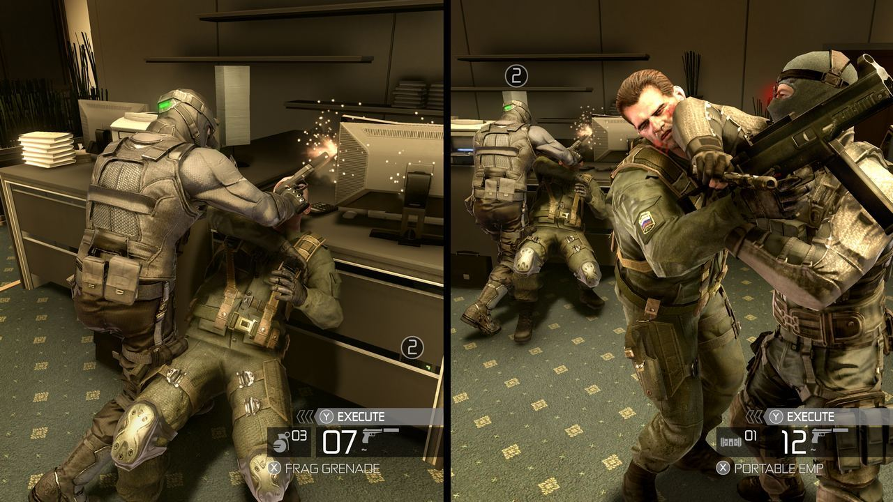 splinter cell split screen Split Screens and Widescreens