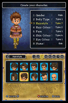 Dragon Quest IX character creation Extending Dragon Quest IX