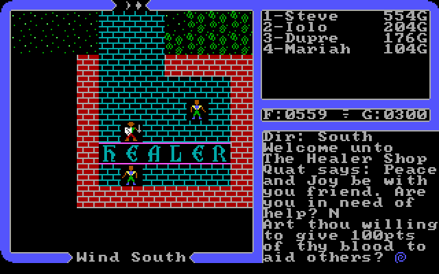 Ultima IV Avatar 3 virtues Ultima IV Quest narrative morality gameplay Avatar
