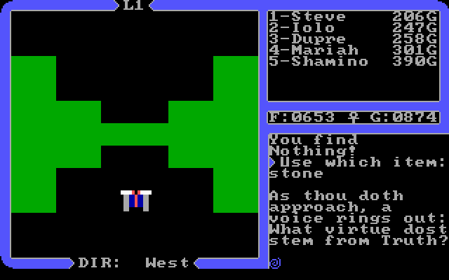 Ultima IV Avatar 5 Ultima IV Gameplay Narrative