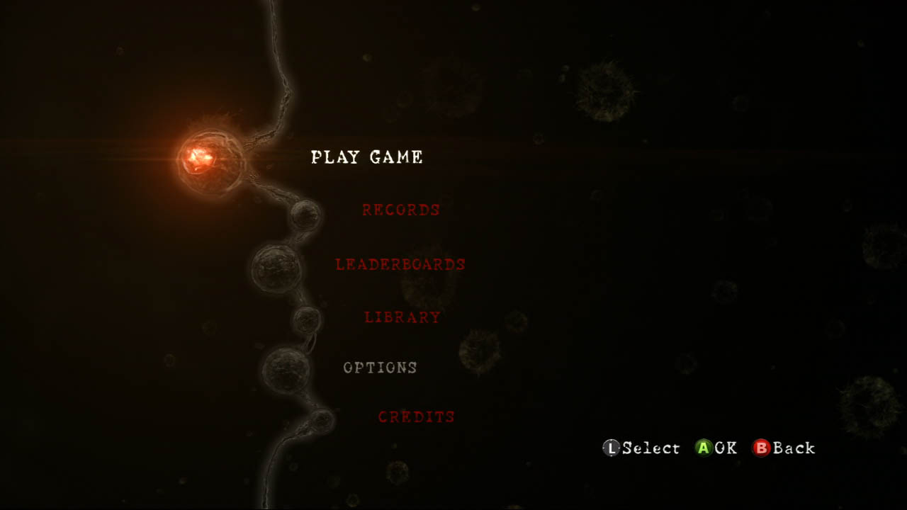 Resident Evil 5 Main Menu Prompts